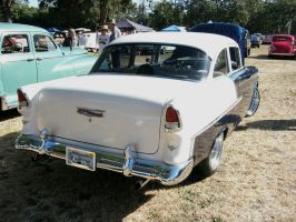 1955 BelAir blue-white beauty by RoadTripDog