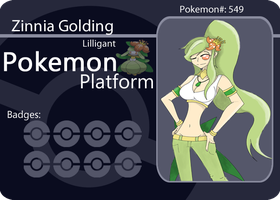 Pokemon Platform Battle Card: Zinnia Golding by BKrook
