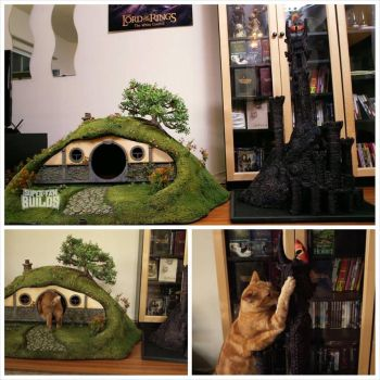 Scratch Post And Hobbit Hole by TimBakerFX