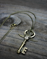 Owl Key Charm Necklace by MythicalFolk
