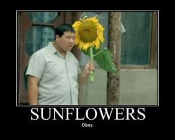 Poster - SUNFLOWERS by E-n-S