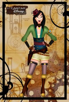 Steampunk Mulan by HelleeTitch