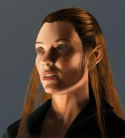 Painting training 3 : Tauriel by DjamOrqua