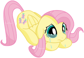 Crying Fluttershy by transparentpony