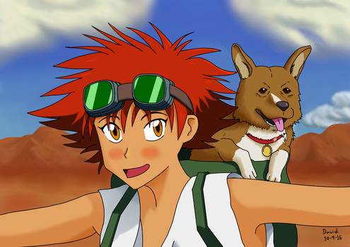 Ed and Ein from Cowboy Bebop by Cerebro-IV