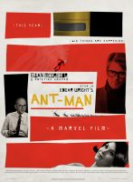 Saul Bass Style Ant-Man Poster by SkinnyGlasses