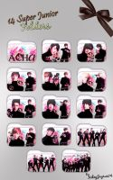 14 Super Junior A-CHa Folders by NileyJoyrus14