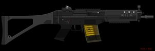 SiG 552 Commando by GundamGPO3