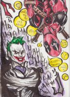 Marvel DC Joker Card.. two sides of the same coin! by 2corpses