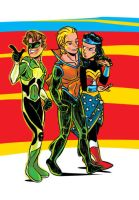 AAAA JSA Teen Lantern Aqualad and Wonder Girl by JsmNox