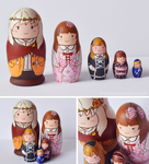 Japanese Styles Matryoshka by LonelyFullMoon
