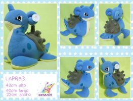 LAPRAS POKEMON PLUSHIE by chocoloverx3