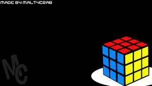 Rubik's Cube Background (Coloured) by MaltyCrab