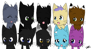 besties and more family :3 by Mysticflower51