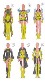 Coro Outfit Designs by Chocobo-Generation