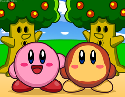 Kirby and Waddle Dee by Kittykun123
