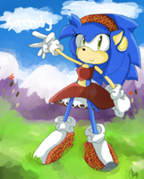 Speedie The Hedgie -sonamy child- by chippuuuu