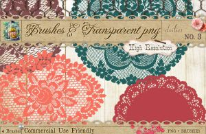 Doily Brushes No 3 by starsunflowerstudio
