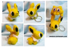 Chibi Jolteon Needlefelt by Swadloon