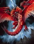 dragon demonio in red by el-grimlock