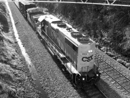 CSX GP38-2 2805 by LDLAWRENCE