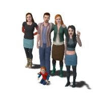 Sims 3 MC2 Spidergirl Family by kaoshoneybun