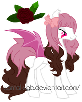 :|Custom|: Female Batpony - RinKagamineVolcaloid by XantaL-XGB
