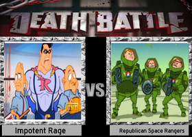DB: impotent Rage vs. Republican Space Rangers by Pudgemountain