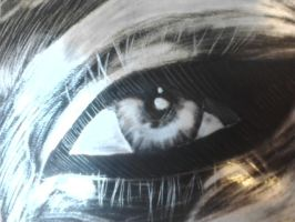 Scratchboard Eye by beauty-to-pain