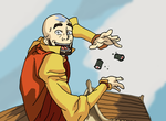 Aang on the Wall of Avatars by faithless12