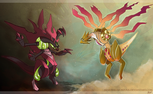 Legendary Pokemon OC Illustrations by RenePolumorfous