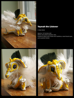 SOLD: White and Yellow Polymer Dragon by Canis-Angst