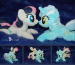 Lyra and Sweetie Drops (Bon Bon) by LanaCraft