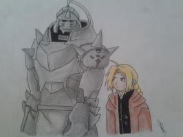 Elric Brothers-FMA by cristallights