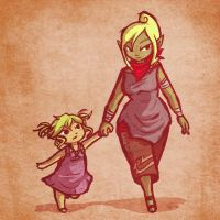 AT: Leah and Tetra by Linkerbell