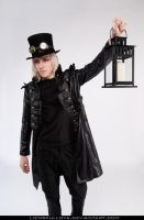STOCK - Gothic Guy with Lamp by LienSkullova