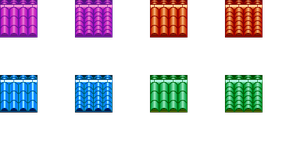Rooftops in Various Colors for RPG Maker VX Ace by bang-bunny
