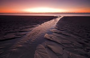 Long Exposure Sunset North Sea by Bull04