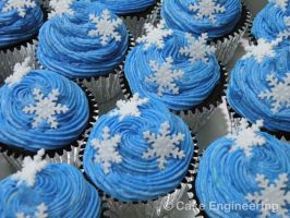 Snowflake cupcakes by cake-engineering