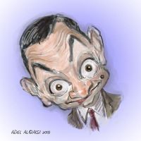 Mr Bean caricature by adel2009