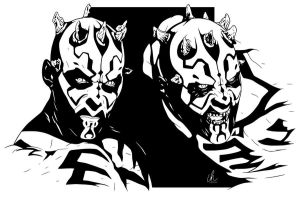 Darth Maul - Dark Apprentice by LRitchieInk