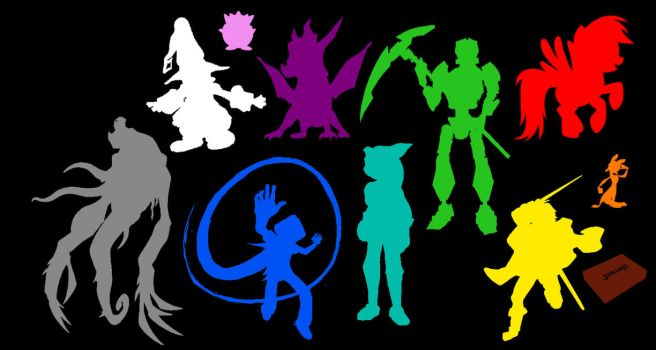 Silhouettes of Heroes: 12 Colours by biojal