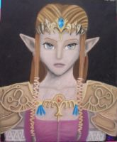 Twilight Princess Zelda pastel by DarthJader11