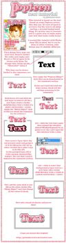 Popteen Text Tutorial by girlunderwater