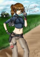 Resident Evil OC ::Victoria:: by SparkFire107