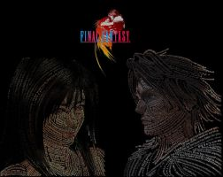 Squall and Rinoa Typography by animaniatic