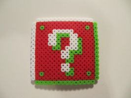Christmas Mario Question Block by TrashCatSprites