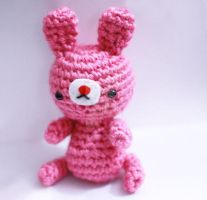 pink bunny by tinyowlknits