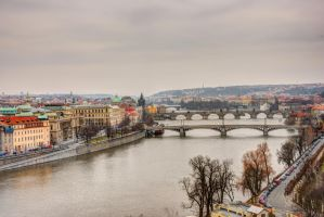 Prague bridges by kubascik