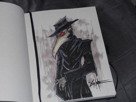 Plague Doctor commission by ChrisOzFulton